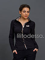 Рубашка комбинированная черный, фото 1