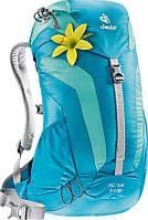 Классный женский спортивный рюкзак DEUTER AC Lite 14 SL 3420016 3217 цвет petrol mint (голубой)