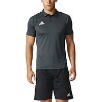 Спортивное мужское поло adidas Tiro17 Polo AY2882 черное - 2017
