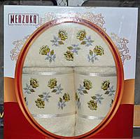 Турецкий красивый набор полотенец Merzuka