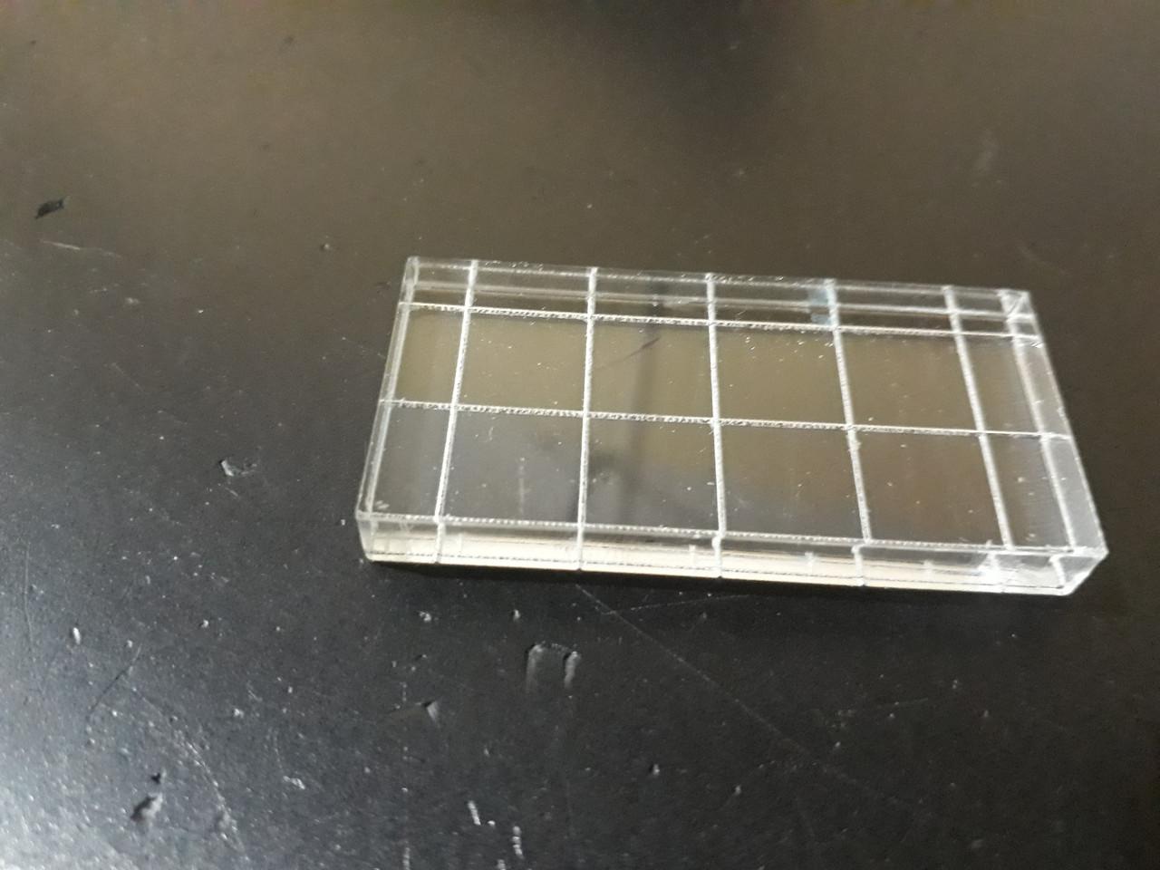 Акриловий блок для штампів 2,5*5,0 см з насічкою