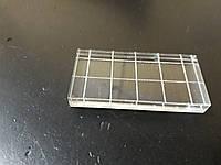 Акриловый блок для штампов 5*3.5 см с насечкой