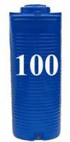 Емкость вертикальная круглая 100 литров