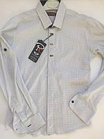 Рубашка белая на кнопке для мальчиков 10-15 лет