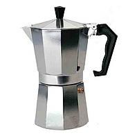 Гейзерная кофеварка для плиты А-Плюс СМ-2082: 600 мл (6 чашек), алюминий, пластиковые ручки