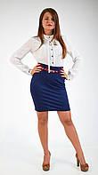 Аккуратная классическая женская юбка-карандаш