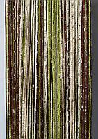 """Шторы-нити (кисея) радуга """"дождик"""" (зеленый+коричневый+беж+белый), фото 1"""