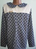 Модная трикотажная кофта-блуза для девочек