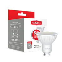 Светодиодная лампа 1-LED-516 MR16 GU10 5W 4100K 220V Maxus