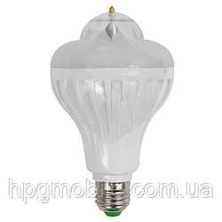 Светодиодный (LED) светильник цветомузыкальный 8 Вт (вращающийся, E27)