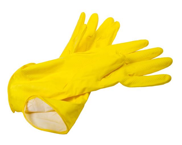 """Перчатки хозяйственные """"Блеск"""" размер M, латексные"""