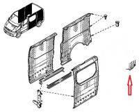 Арка заднего крыла левая задняя часть Renault Trafic,Nissan Primastar,Opel Vivaro до 2014г. 7782172236,77821