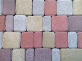 Сухопрессованная тротуарная плитка