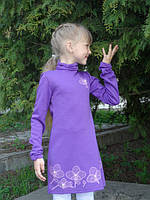 Стильное детское платье с цветочным орнаментом