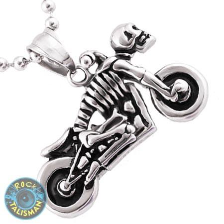 Кулон AST26 Скелет-мотоцикл