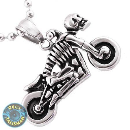 Кулон AST26 Скелет-мотоцикл, фото 2