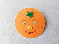 Фрукты из фетра Апельсин для рукоделия и творчества