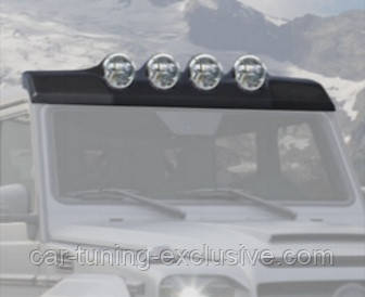 MANSORY roof panel with 4 position lights for Mercedes G-class