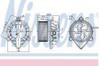 Вентилятор печки Renault Trafic,Opel Vivaro,Nissan Primastar с кондиционером, с 2001г. 7701050310,27614-00QAC,4409448