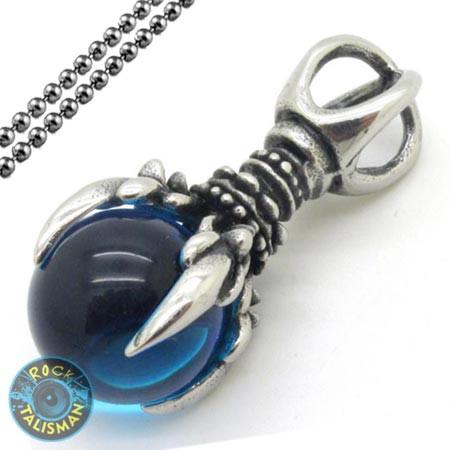 Кулон AST28 Когти с синим камнем