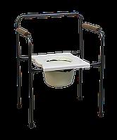 Крісло-стілець з санітарним оснащенням MEDOK, нерегульоване за висотою