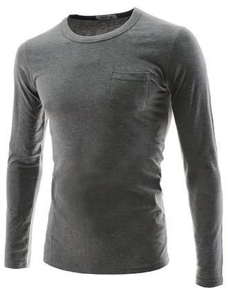 Мужской тонкий реглан серый, фото 2