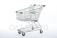 Тележка, візок для супермаркета с поддоном 100 литров
