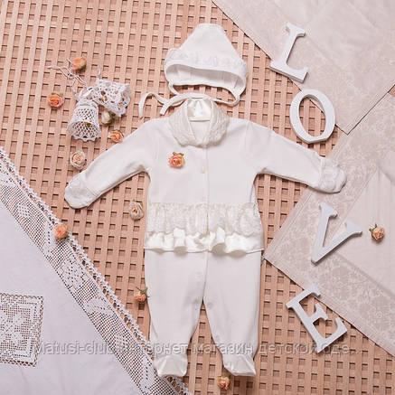 Набор для новорожденных в Украине. Человечек и шапочка для девочки на выписку,в наличии 56,62рост, фото 2