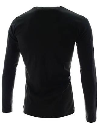 Мужской тонкий реглан черный, фото 2