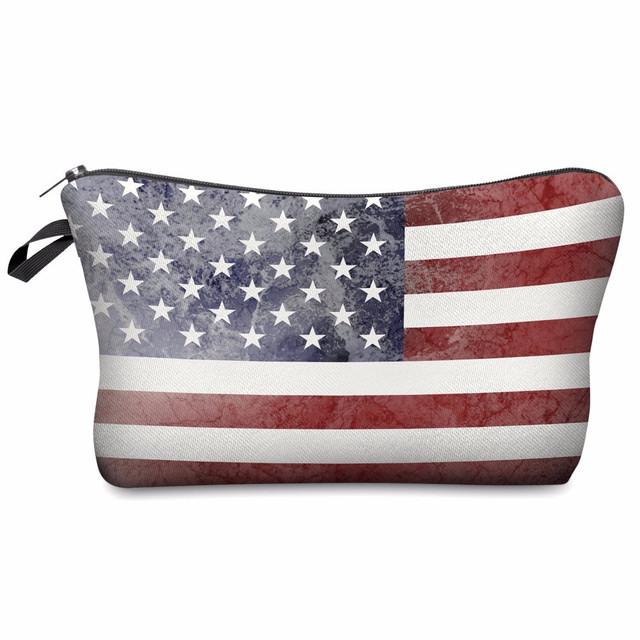 Косметичка с принтом Американского флага