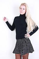 Оригинальная коротенькая женская юбочка в горошек