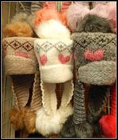 Качественная зимняя детская шапка из шерсти