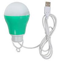 Светодиодный (LED) USB светильник 5 Вт (холодный белый, корпус зеленый)
