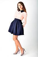 Стильная женская коротенькая юбочка с карманами