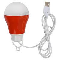 Светодиодный (LED) USB светильник 5 Вт (холодный белый, корпус красный)