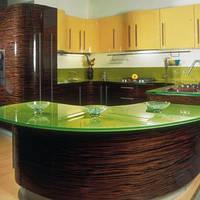 Угловая кухня с радиусным островом