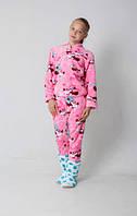Велюровая детская пижама для девочки