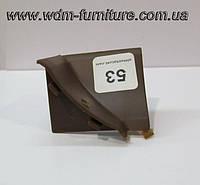 Угол внутренний  темно-коричневый (орех) 53