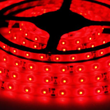 Светодиодная лента SMD 3528, 60 диодов/м, 12V, 4.8W/m, 9lm, IP65, герметичная, 5 метров, красная