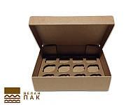 Коробка для капкейков, кексов и маффинов 12 шт 320*238*80 (крафт)