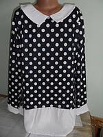 Качественная детская кофточка-блуза в горошек