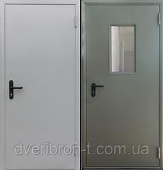 Дверь противопожарная металлическая одностворчатая с пределом огнестойкости Ei-30, Ei-60