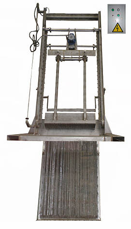 Решетка механическая грабельная рейкового типа РГР изготовлена полностью из нержавеющей стали, фото 2