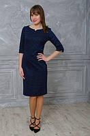 Классическое  женское платье в горошки