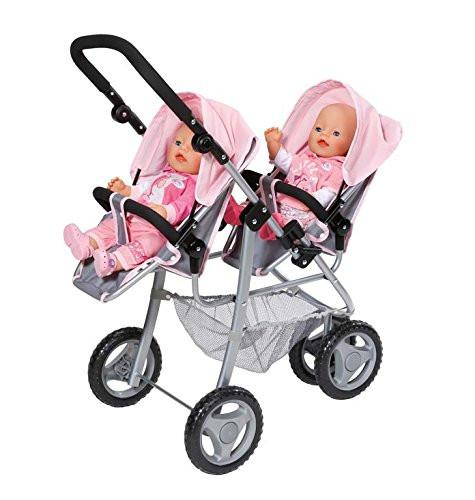 Коляска тандем для кукол Беби Борн Делюкс для двойни Baby Born Twin Jogger Zapf Creation 820940