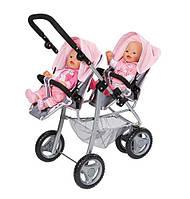 Коляска тандем для кукол Беби Борн Делюкс для двойни Baby Born Twin Jogger Zapf Creation 820940 , фото 1