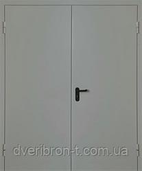 Дверь противопожарная металлическая двухстворчатая с пределом огнестойкости Ei-30, Ei-60