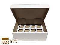 Коробка для капкейков, кексов и маффинов 12 шт 320*238*110