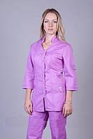 Сиреневый бирюзовый медицинский костюм больших размеров