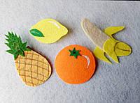 Набор фруктов из фетра для рукоделия и творчества